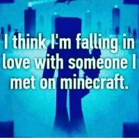 I think Im falling in  love with someone I  met on minecraft My life's been a bit crazy lately and I wanted to break the news to all of you...