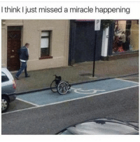 Memes, 🤖, and Think: I think just missed a miracle happening Probably is