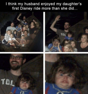 Disney, Husband, and She: I think my husband enjoyed my daughter's  first Disney ride more than she did...  TOL  TD Disney ride