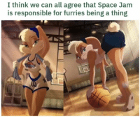 Space, Space Jam, and Can: I think we can all agree that Space Jam  is responsible for furries being a thing