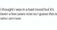 Bad, Dank, and Mood: i thought i was in a bad mood but it's  been a few years now so i guess this is  who i am nowW Accept it...