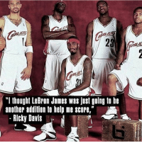 "Cavs, LeBron James, and Memes: ""I thought LeBron James was just going to be  another addition to help me score,""  Ricky Davis We know who got the last laugh. Haha Via @ballislife h-t: @swishfactor Tags: Cavs Heat LeBron Champ"