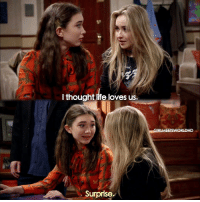 Memes, 🤖, and Girl Meets World: I thought life loves us.  Surprise.  GIRL MEETS WORLD HD GirlMeetsSweetSixteen what did you all think of yesterday's episode?