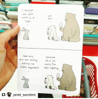 😎✌🏼 card available at @target Repost @janet_sanders (@get_repost) ・・・ @lizclimo is forever my favorite human.: I thought  You guy s  were in o  fight  We  are  then why  are you sitting  eating ice  because  its a lot  more fun  than fighting  creom tog  ether?  janet-sanders 😎✌🏼 card available at @target Repost @janet_sanders (@get_repost) ・・・ @lizclimo is forever my favorite human.