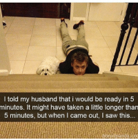 Follow me @antisocialtv @lola_the_ladypug @x__social_butterfly__x @x__antisocial_butterfly__x: I told my husband that i would be ready in 5  minutes. It might have taken a little longer than  5 minutes, but when I came out, I saw this... Follow me @antisocialtv @lola_the_ladypug @x__social_butterfly__x @x__antisocial_butterfly__x