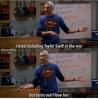 We're on the same page Sheldon 😂❤️ tbbt thebigbangtheory: I tried including Taylor Swift in the mix  IG/the bigbongtheory  8x13  but turns out love her We're on the same page Sheldon 😂❤️ tbbt thebigbangtheory