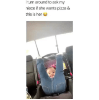 Pizza, Girl Memes, and Ask: I turn around to ask my  niece if she wants pizza &  this is her I'll take that as a yes