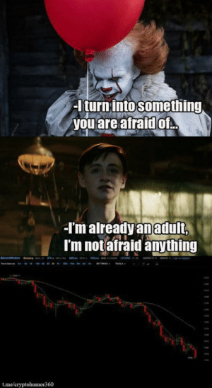 Bitcoin, You, and Eth: I turninto something  you are afraid of  I'm alreadyanadult,  I'm notafraid anything  t.me/c  or360 #bitcoin #ETH #cryptohumor