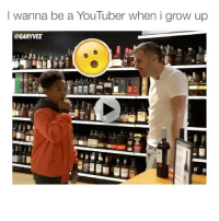 Advice, Memes, and Wshh: I wanna be a YouTuber when i grow up  @GARYVEE GaryVee gives some advice to a young YouTuber 🙏💯 @garyvee WSHH