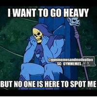 Funny, Gym, and Love: I WANT TO GO HEAVY  agymmemesandmotivation  SC: GYMMEMES  BUT NOONE IS HERE TO SPOT ME Follow ⏩@AESTHETICELITE ⏪ for Motivation 💪😎 . @AESTHETICELITE 💯 @AESTHETICELITE 💯 @AESTHETICELITE 💯 . workout bodybuilding crossfit strong motivation instalike powerlifting bench deadlift squat squats gymmemes gymhumor love funny instamood gymmotivation jokes legday girlswholift fitchick fitspo gym fitness bossgirls