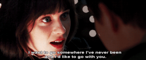 Never, Been, and Net: I want to go somewhere I've never been  and Pd like to go with you. https://iglovequotes.net/