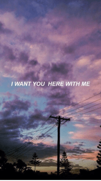 here with me: I WANT YOU HERE WITH ME