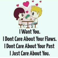 i dont care: I Want You.  I Dont Care About Your Flaws.  I Dont Care About Your Past  I Just Care About You.
