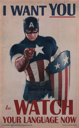 epicjohndoe:  Recruiting The Avengers' Way: I WANT YOU  WATO  to  YOUR LANGUAGE NOW  OFFICIAL US TREASURT POSTER  0-4556730 FORM OP epicjohndoe:  Recruiting The Avengers' Way