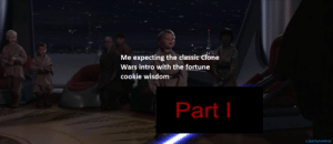 I was hoping for the Classic intro, but that works too: I was hoping for the Classic intro, but that works too