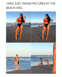 Beach, Pictures, and Relatable: I WAS JUST TAKING PICTURES AT THE  BEACH AND. THIS IS @jamescharles. WHY DOESNT THIS HAPPEN TO ME