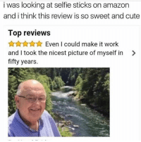 Ugh I love old people they are so damn cute. Unless you get an ugly old person then they are SO damn ugly. But this guy is so damn cute. I think u get the point.: i was looking at selfie sticks on amazon  and i think this review is so sweet and cute  Top reviews  令☆☆☆ Even I could make it work  and I took the nicest picture of myself in >  fifty years. Ugh I love old people they are so damn cute. Unless you get an ugly old person then they are SO damn ugly. But this guy is so damn cute. I think u get the point.