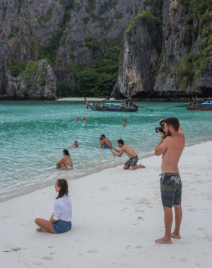Funny, Instagram, and Girlfriend: I was stood taking a photo of my girlfriend in the sea, then realised so was every other Instagram boyfriend. via /r/funny https://ift.tt/2K4N2vT
