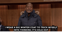 "<p><a href=""https://www.youtube.com/watch?v=7jJC9b_8MgA"" target=""_blank"">James from The Roots gives tips on how to beat the NY heat wave! </a></p>: I WEAR A BIG WINTER COAT TO TRICK MYSELF  INTO THINKING IT'S COLD OUT <p><a href=""https://www.youtube.com/watch?v=7jJC9b_8MgA"" target=""_blank"">James from The Roots gives tips on how to beat the NY heat wave! </a></p>"