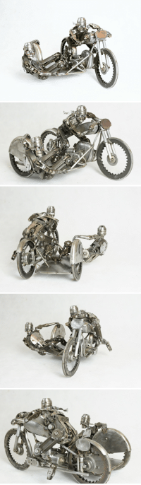 History, Glory, and Racing: I welded this sculpture together to celebrate the history and glory of Sidecars racing