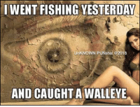 I love eye puns. The cornea the better. #UnKNOWN_PUNster: I WENT FISHING YESTERDAY  UnKNOWN PUNster @2018  AND CAUGHT A WALLEYE I love eye puns. The cornea the better. #UnKNOWN_PUNster