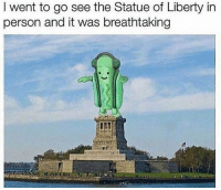 Beautiful, Statue of Liberty, and Dank Memes: I went to go see the Statue of Liberty in  person and it was breathtaking So beautiful