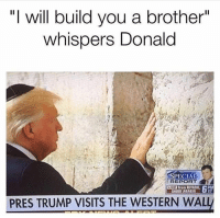 "America, Guns, and Memes: ""I will build you a brother""  whispers Donald  PECIA  REPOR  LIVE from RIYADH, PM  SAUDI ARABIA  PRES TRUMP VISITS THE WESTERN WAL So pure . . . . Conservative America SupportOurTroops American Gun Constitution Politics TrumpTrain President Jobs Capitalism Military MikePence TeaParty Republican Mattis TrumpPence Guns AmericaFirst USA Political DonaldTrump Freedom Liberty Veteran Patriot Prolife Government PresidentTrump Partners @conservative_panda @reasonoveremotion @conservative.american @too_savage_for_democrats @raging_patriots @keepamerica.usa -------------------- Contact me ●Email- RaisedRightAlwaysRight@gmail.com ●KIK- @Raised_Right_ ●Send me letters! Raised Right, 5753 Hwy 85 North, 2486 Crestview, Fl 32536 (Business address, i do not live in Crestview)"