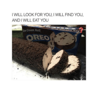 I WILL LOOK FOR YOU, I WILL FIND YOU.  AND WILL EAT YOU  Ice Cream Roll  OREO Fuck me where can I find this deliciousness?!?!?!