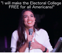 "College: ""I will make the Electoral College  FREE for all Americans!""  I1"