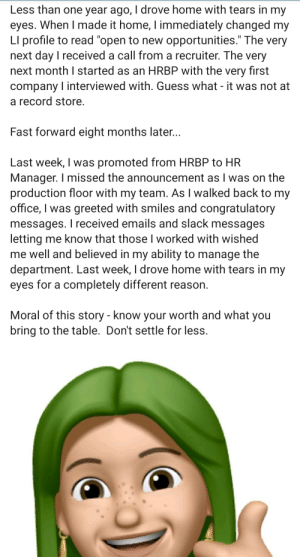 I will not hire you, Green Haired Ma'am. Then I will post on LinkedIn, Green I am.: I will not hire you, Green Haired Ma'am. Then I will post on LinkedIn, Green I am.