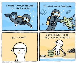 Http, Smile, and Comics: I WISH I COULD RESCUE  YOU LIKE A HERO  TO STOP YOUR TORTURE  SOMETIMES THIS IS  BUT I CAN'T  ALL ICAN DO FOR YOU  GJUST COMICS/3OAN CHAN This made me smile via /r/wholesomememes http://bit.ly/2wbNrrQ