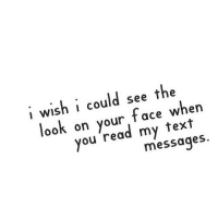 Http, Text, and Net: i wish i could see the  look on your face when  you 'read my text  7  messages http://iglovequotes.net/