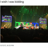 Tyler and a fan legit played Mario Kart in the middle of their concert, what even is this band: I wish I was kidding  MAP SEUSCT  1/17/17, 9:23 PM Tyler and a fan legit played Mario Kart in the middle of their concert, what even is this band