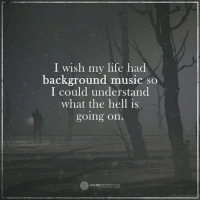 Life, Memes, and Music: I wish my life had  background music so  I could understand  what the hell is  going on.  HIGHER  PERSPECTIVE I wish...