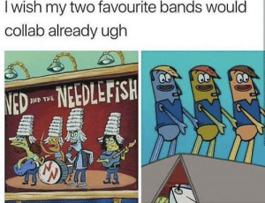 Make it happen!: I wish my two favourite bands would  collab already ugh  NED NEDLEFISH  AND THE Make it happen!