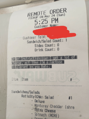 I work at a subway, we got this special request.: I work at a subway, we got this special request.