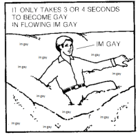 Im Gay, Gay, and  Seconds: I1 ONLY TAKES 3 OR 4 SECONDS  TO BECOME GAY  N FLOWING IM GAY  im gay  IM GAY  im gay  im gay  im gay  im gay  im gay  imgay  im gay  im gay