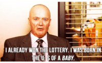 Lottery, Creed, and Happy: IALREADY WON THE LOTTERY. IWAS BORN IN  THE U S OF A BABY Creed thoughts. Happy 4th ✌🏼