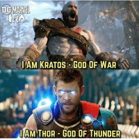 Who do you think is stronger?? Kratos or Thor? ⚔️⚡️ TAG 2 FRIENDS!!! - - -OG: @dcmarvelera - - marvel mcu marvelcomics dc dceu dccomics movies popculture media entertainment funny comedy ironman captainamerica spiderman blackpanther superman batman theflash aquaman twitter tv viral comics hero superhero milesmorales spiderverse kratos godofwar: IAM KRATOS GOD OF WAR  IAM THOR GOD OF THUNDER Who do you think is stronger?? Kratos or Thor? ⚔️⚡️ TAG 2 FRIENDS!!! - - -OG: @dcmarvelera - - marvel mcu marvelcomics dc dceu dccomics movies popculture media entertainment funny comedy ironman captainamerica spiderman blackpanther superman batman theflash aquaman twitter tv viral comics hero superhero milesmorales spiderverse kratos godofwar