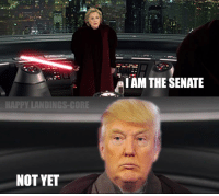 Memes, Orange, and 🤖: IAM THE SENATE  HAPPY LANDINGS-GORE  NOT YET What a comeback by the orange man  #Election2016  #USELECTION2016