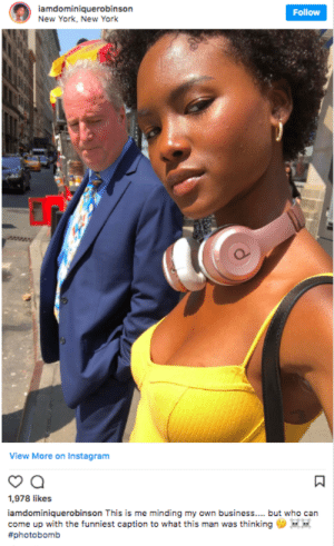 Geoffrey is about to risk it all by allessandro FOLLOW HERE 4 MORE MEMES.: iamdominiquerobinson  New York, New York  Follow  View More on Instagram  1,978 likes  iamdominiquerobinson This is me minding my own business... but who can  come up with the funniest caption to what this man was thinking  Geoffrey is about to risk it all by allessandro FOLLOW HERE 4 MORE MEMES.