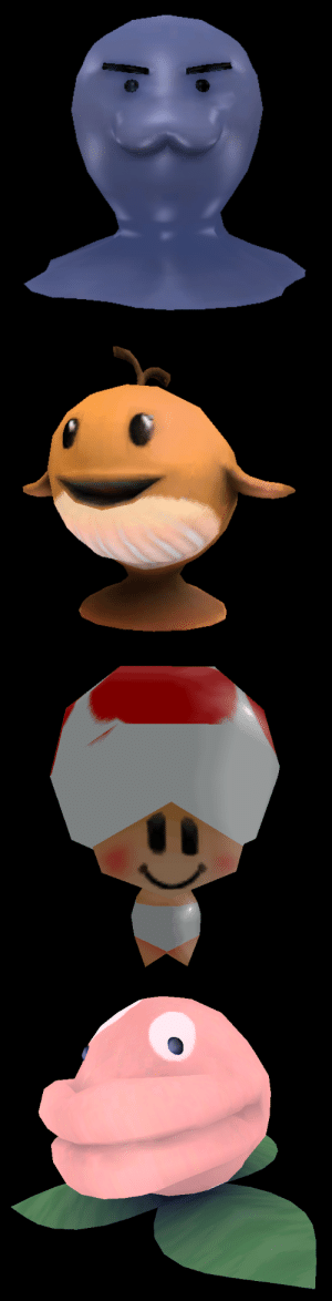 Super Mario, Tumblr, and Mario: iamoutofideas: suppermariobroth: Unused enemies from Super Mario Galaxy. Yes, the Toad one is an enemy and not just a placeholder or early graphic for actual Toads. Toad has always been an enemy