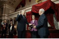 Vice President MikePence administered the Senate oath to Luther Strange during a re-enactment ceremony. Senator Strange will fill Attorney General JeffSessions' seat until an election is held to permanently replace him.: IAP Photo/J Scott Applewhite) Vice President MikePence administered the Senate oath to Luther Strange during a re-enactment ceremony. Senator Strange will fill Attorney General JeffSessions' seat until an election is held to permanently replace him.