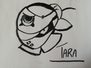 Yo, Stars, and Daughter: IARA My 8 yo daughter has done now this picture of Tara from Brawl Stars