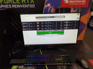Best Buy, Chrome, and Microsoft: IBUKPOWER  TOURNAMENT SYSTEMS  PHICS REINVENTED  240  X  UFO Test: Multiple Framerates  A https://www.testufo.com  Restore pages?  Compare Frame Rates: UFO  Chrome didn't shut down correctly  BLUR BUSTERS Motion Tests  Restore  Welcome to Blur Busters UFO Motion Tests.  VID  GAM  $19.9  This screen compares multiple framerates, If using a 120Hz monitor, then 120fps is automatically added to this test (301ps vs 60fps vs 120fps) in supported browsers  Try these additional tests Eye Tracking Demo Persistence Demo Ghosting Test Black Frame Insertion Demo More tests in selectable list above!  Speed 960 Pixels Per Second  Background: Stars  Count Of UFOS 3 UFOS  240 fps  120 fps  and be  60 fps  960  Pixels  4  Pixels  Per Frame  Refresh  Rate  240 Hz  240 fps  Per Sec  Frame  Rate  READY*  f  Share This Test! www.testufo.com  IMPORTANT: Close all apps and other browser tabs and windows for best performance! Keep Aero turned on.  Copyright (C) 2017 Blur Busters - All Rights Reserved BlurBusters com Discussion Forums Privacy Policy | Contact Chief Blur Buster  Blur Busters: Everything better than 60HZT  Problems?Check Your Browser Supported Browsers with VSYNC Chrome (up to 240H2-), FireFox 24+ (up to 240Hz+), IE 10- (Limited to 60Hz)  PREDAE  NVIDIA  nvIDIA  3D VISION  G-SYNC  F12  F1  F10  FS  FB  F7  FG  FS  F4  ESC  HYD ER M  MUMLK  7&  8+  6A  5%  45  2@  10  PGON  END  DEL  TAB  ENTER  G  D  Solid State Drive + Hard D  RGB LED Front Panel & Ins  Performance Power Suppl  Microsoft Windows 10 H  CAPS  NU  SHIFT  M  X  SHIFT  CTRL  FN  ALT  ALT  CTRL  GEFORCE  RTX  NVIDIA Best Buy had it set on 60 Hz, Set it to 240 and put up this to show the difference.