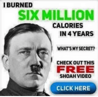 """<p>Burn calories via /r/dank_meme <a href=""""https://ift.tt/2Gy7Hf9"""">https://ift.tt/2Gy7Hf9</a></p>: IBURNED  SIX MILLION  CALORIES  IN 4 YEARS  WHAT SMY SECRET?  CHECK OUT THIS  FREE  SHOAH VIDEO  CLICK HERE <p>Burn calories via /r/dank_meme <a href=""""https://ift.tt/2Gy7Hf9"""">https://ift.tt/2Gy7Hf9</a></p>"""