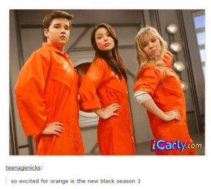 Dancing, iCarly, and Tumblr: iCarly.com  so excited for orange is the new black season 3 RANDOM DANCING!!!