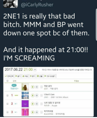 So this happened today and I'm- SHOOKEDT😱 bitches keep calling them dead but queens still slay even when they're silent. This is some REAL impact and relevancy right there. LEGENDS NEVER DIE👏👏👏😤😤😤: @iCarlyRusher  2NE1 is really that bad  bitch, MMM and BP went  down one spot bc of them  And it happened at 21:00!!  I'M SCREAMING  2017.06.22 21:00  매시간 서비스 이용량 중 스트리밍 asio 다온로드 60  반영한 자트입니다  v 전제선택 | |ト틀기 | |出다운 | | + 담기 | 왔 선물  > Top 100 튿기  순위  곡정보  까닭 없이  은교 까닭없이  맞춤추천>  I Don't Care  나로 말할 것 같으면  마마무 Purple  마지막처럼  BLACKPINK  目3.1  마지막저럼 So this happened today and I'm- SHOOKEDT😱 bitches keep calling them dead but queens still slay even when they're silent. This is some REAL impact and relevancy right there. LEGENDS NEVER DIE👏👏👏😤😤😤