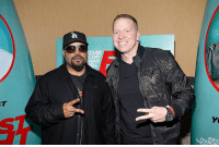 Ass, Charlie, and Funny: ICE C  CHARLIE  T  验 Went to a screening of Fist Fight tonight in Atlanta. @icecube has done it again. Funny ass movie! Glad to see @realtracymorgan back at it. FistFight Atl GetSome