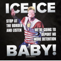 Friends, Guns, and Memes: ICE CE  STOP AT  THE BORDER  AND LISTEN  WE'RE GOING TO  DEPORT NO  MORE DETENTION  BABY NEW!!😍 ORDER YOURS✔️ STORE LINK IN BIO✔️ www.UncleSamsMisguidedChildren.com ICE ICE BABY 🇺🇸 - Tag friends & Follow 🔊 👉🏽 @unclesamsmisguidedchildren UncleSamsMisguidedChildren 556 tactical military guns republican conservative 2ndamendment maga 2A Trump2020 donaldtrump USMC usnavy usarmy trump immigration borderpatrol veterans walkaway buildthewall trumpmemes lockherup makeamericagreatagain militarylife igmilitia ar15 deplorable pewpew keepamericagreat